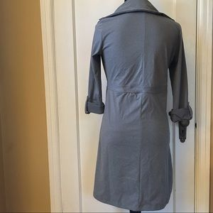 TEHAMA Dresses - TEHAMA Athletic Roll Sleeve Gray Button Dress XS